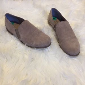 NWT Franco Sarto Taupe Leather Slip On Loafers